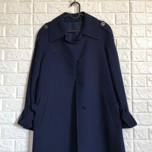 Vintage Lufthansa pilots wool trench coat costume
